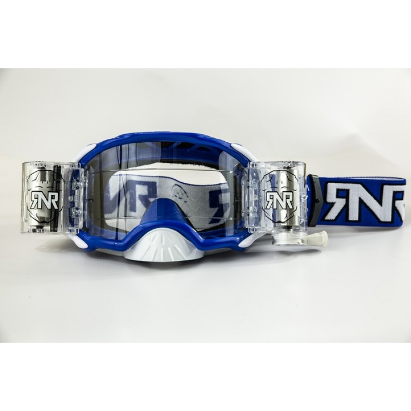 Rip n Roll Colossus WVS Platinum Roll Off Motocross Goggles Blue