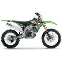 Kawasaki Metal Mulisha Motocross Graphics Rad and Tank Only