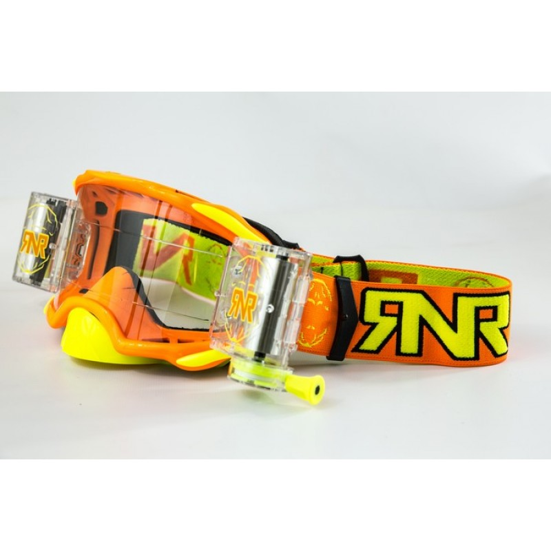 Rip n Roll Colossus WVS Platinum Roll Off Motocross Goggles Orange