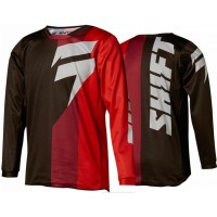 2018 Shift WHIT3 Tarmac Kids Youth Motocross Jersey BLACK RED