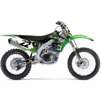 Kawasaki Two Two Motorsport KXF Motocross Graphics Kit