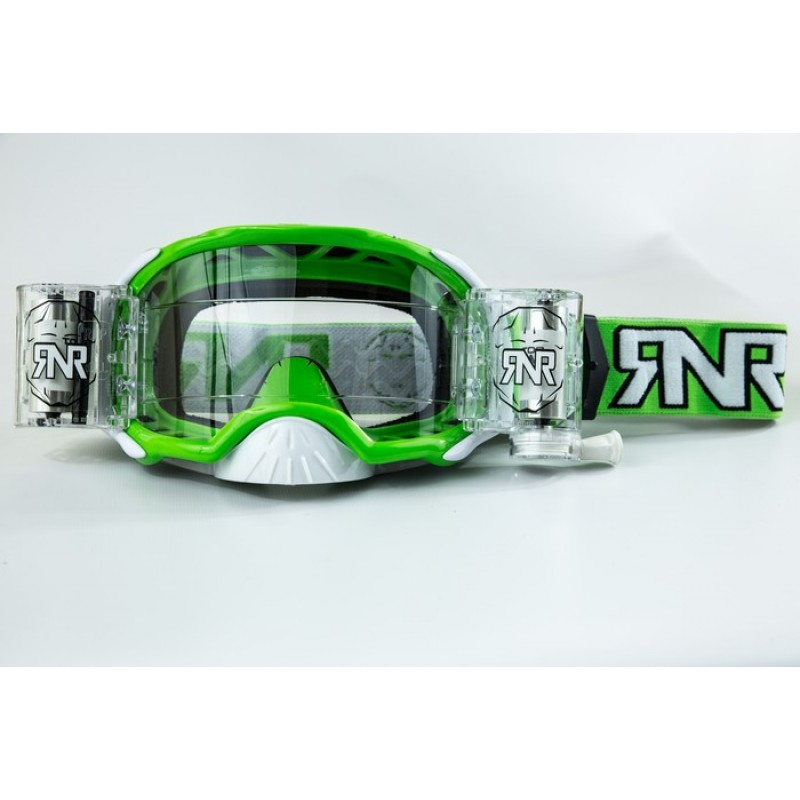 Rip n Roll Colossus WVS Platinum Roll Off Motocross Goggles Green