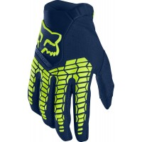 2020 Fox Pawtector Motocross Gloves NAVY YELLOW