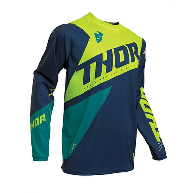 2020 Thor Sector BLADE Motocross Jersey NAVY ACID