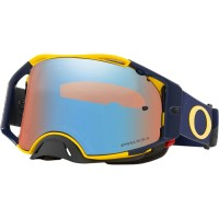 Oakley Airbrake Motocross Goggles Heritage B1B Yellow Navy PRIZM Sapphire Lens
