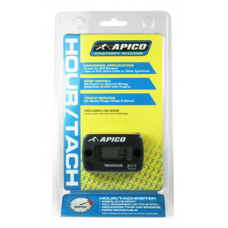 Apico Hour Meter with RPM Display for Motocross MX Bikes
