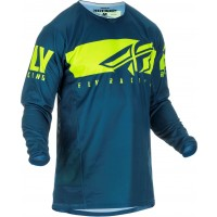 2019 Fly Racing Kinetic Shield Motocross Jersey Navy Hi Viz