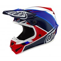 Troy Lee Designs SE4 MIPS POLY BETA Motocross Helmet Red Blue