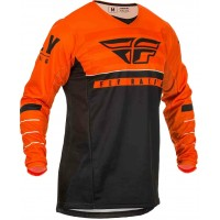 2020 Fly Racing Kinetic K120 Youth Kids Motocross Jersey Orange Black White