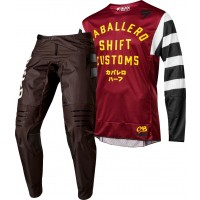 Shift CABALLERO Limited Edition 3LACK LABEL Motocross Gear DARK RED 28 ONLY
