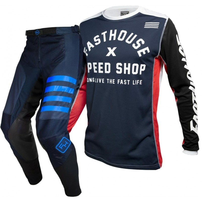 Fasthouse SPEEDSTYLE Motocross Gear NAVY HERITAGE NAVY 28 ONLY