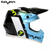 Bell Moto 9 Flex Carbon SEVEN FLIGHT Motocross Helmet Black Aqua XL or XXL ONLY