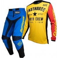 Fasthouse GRINDHOUSE Motocross Gear BLUE PHANTOM YELLOW 28 or 38 ONLY
