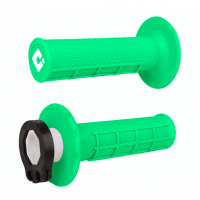 ODI Half Waffle Lock On Motocross Bike Grips Flo Green