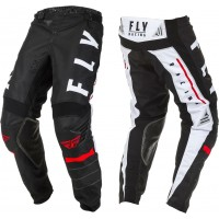 2020 Fly Racing Kinetic K120 Youth Kids Motocross Pants Black White Red