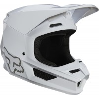 2021 Fox V1 PLAIC Motocross Helmet WHITE