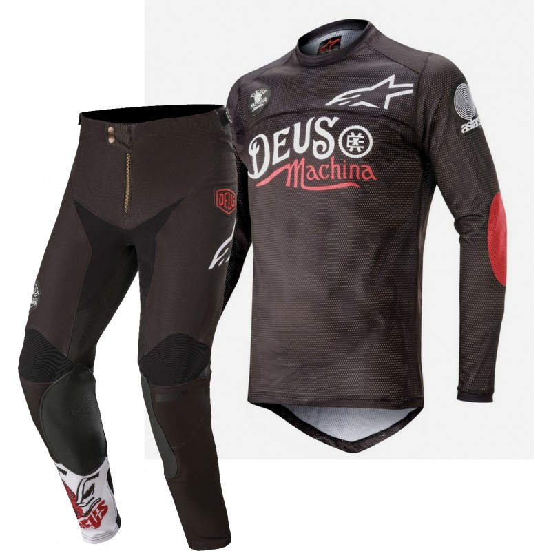 2020 Alpinestars RACER TECH Limited Edition DEUS MONSTER CUP Motocross Gear BLACK RED 28 ONLY