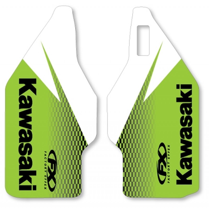 Lower Fork Stickers for Kawasaki Motocross Bikes