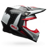 Bell Moto 9 Carbon Flex Motocross Helmet Vice Black White Red XL or XXL ONLY