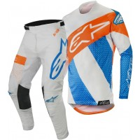 2019 Alpinestars RACER TECH Atomic Grey Blue Orange Motocross Gear
