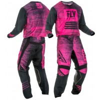 2019 Fly Racing Kinetic Noiz Motocross Gear Neon Pink Black