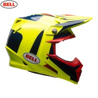 Bell Moto 9 Carbon Flex Motocross Helmet Vice Blue Yellow