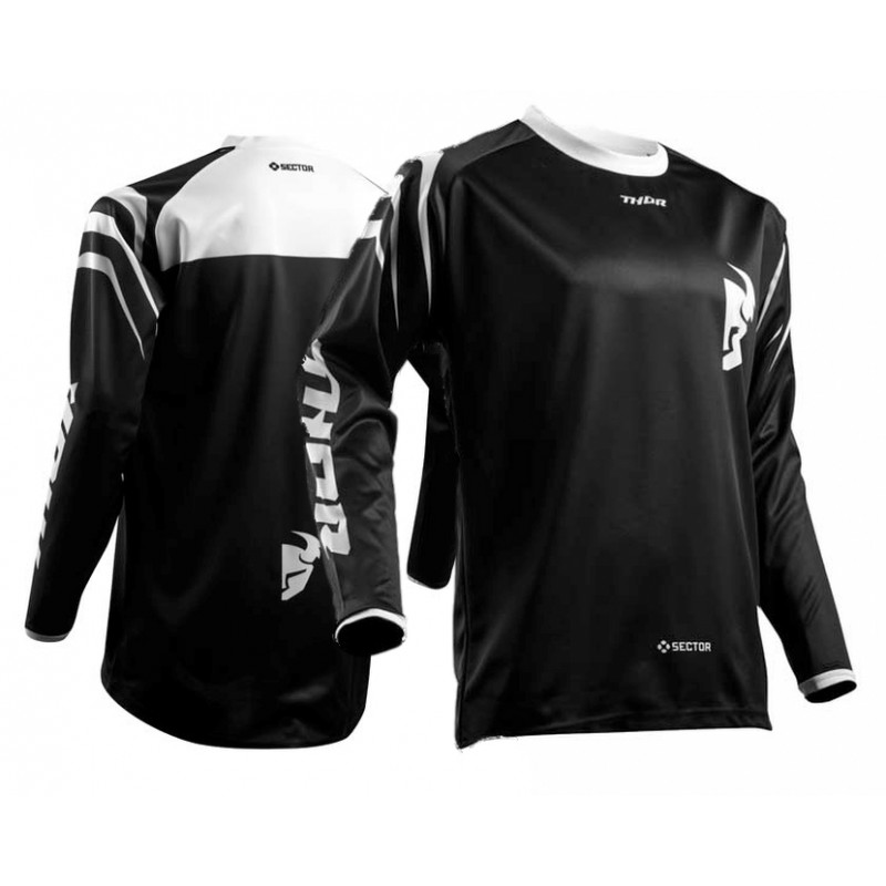 Thor Sector Zones Kids Youth Motocross Jersey BLACK