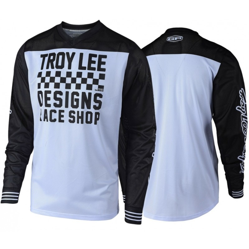 Troy Lee Designs RACESHOP TLD MX GP AIR 18.1 Motocross Jersey White SMALL ONLY