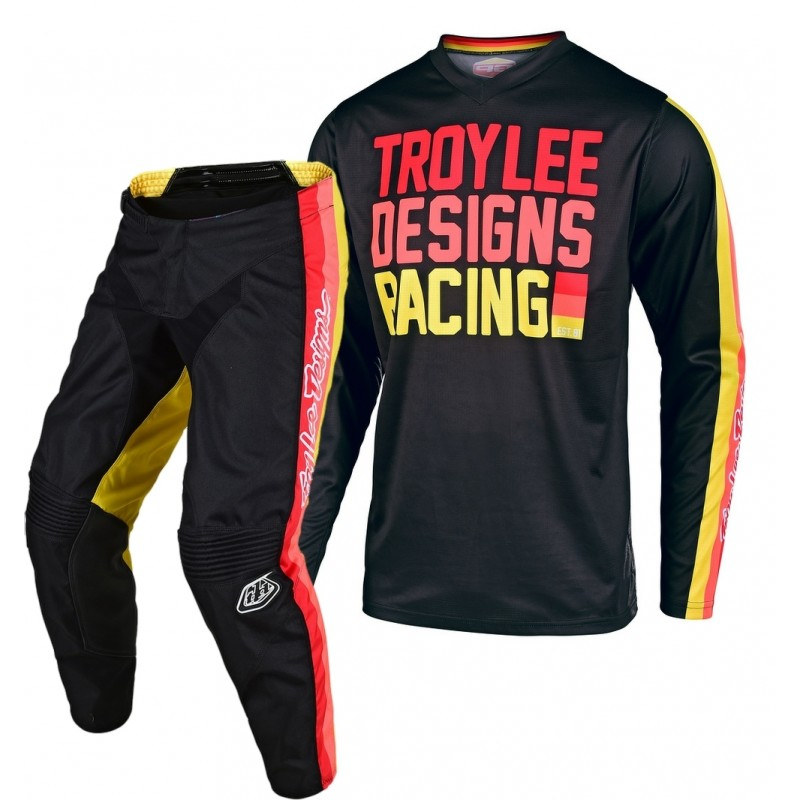 Troy Lee Designs PREMIX Youth Kids TLD GP Motocross Gear Black Yellow 26 ONLY