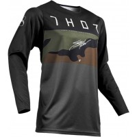 2019 Thor MX Prime Pro Fighter Motocross Jersey Charcoal Camo