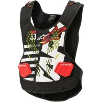Alpinestars Sequence Body Armour Chest Protector BLACK WHITE RED