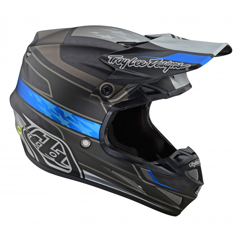 2021 Troy Lee Designs TLD SE4 CARBON SPEED Motocross Helmet BLACK GREY