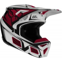 2020 Fox V3 IDOL Motocross Helmet LIGHT GREY