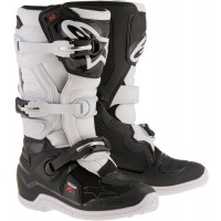 Alpinestar Tech 7S Kids Youth Motocross Boots Black White