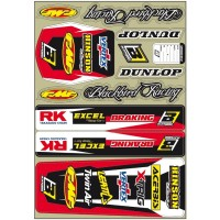 Blackbird Universal Trim Sticker Kit Honda CR CRF Motocross Bikes