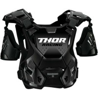 Thor Guardian Adult Motocross Chest Protector Body Armour with Arm Guards BLACK