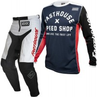 Fasthouse GRINDHOUSE Motocross Gear WHITE HERITAGE NAVY