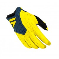 Shift 3LACK Label PRO Motocross Gloves YELLOW NAVY