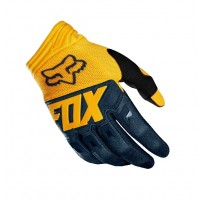 Fox Dirtpaw RACE Motocross Gloves NAVY YELLOW XXL ONLY