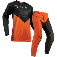 Thor MX Prime Pro Jet Motocross Gear Black Red Orange 36 ONLY