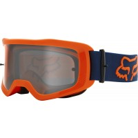 2021 Fox Main 2.0 STRAY Motocross Goggles FLO ORANGE with Clear Lens