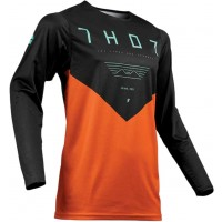 2019 Thor MX Prime Pro Jet Motocross Jersey Black Red Orange