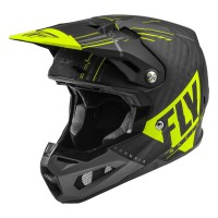 2020 Fly Racing Formula Carbon MIPS Motocross Helmet Matte Hi Viz Grey Black