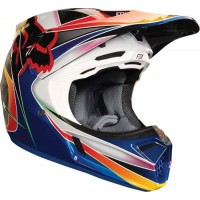 Fox V3 KUSTM Motocross Helmet MULTI SMALL ONLY