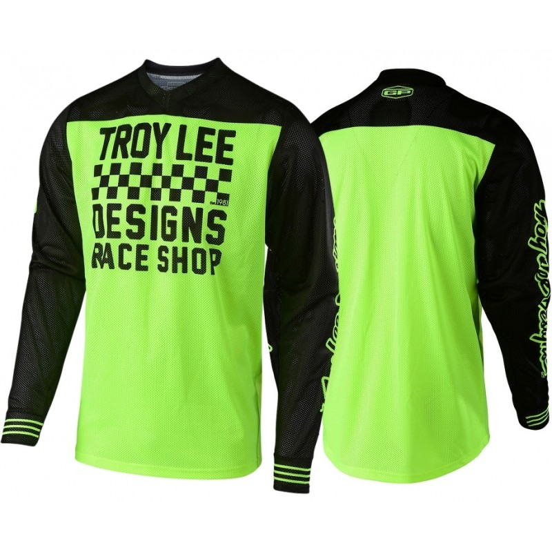 Troy Lee Designs RACESHOP TLD MX GP AIR 18.1 Motocross Jersey Yellow MEDIUM ONLY