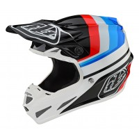 Troy Lee Designs TLD SE4 COMP MIPS MIRAGE Motocross Helmet WHITE BLACK