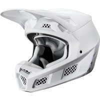 2020 Fox V3 SOLIDS Motocross Helmet WHITE SILVER Limited Edition SMALL ONLY