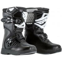 Fly MX Maverik Kids Peewee Motocross Boots Black