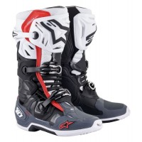 Alpinestars Tech 10 SUPERVENTED Motocross Boots Black White Grey Red UK7 ONLY