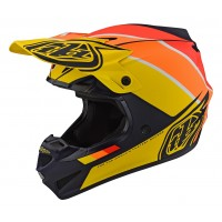 Troy Lee Designs SE4 MIPS POLY BETA Motocross Helmet Navy Yellow XL ONLY
